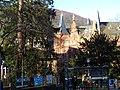 Bus Station Peterskirche Heidelberg, Blick auf Universitätsbibliothek.JPG