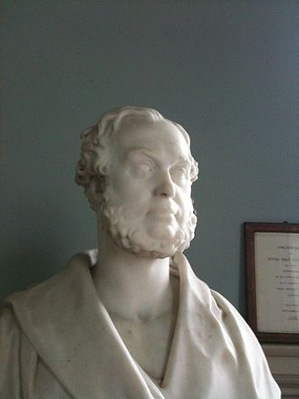 Titus Salt - Bust of Titus Salt (not then a baronet) presented to him by his workforce in 1856, and now in Saltaire United Reformed Church.