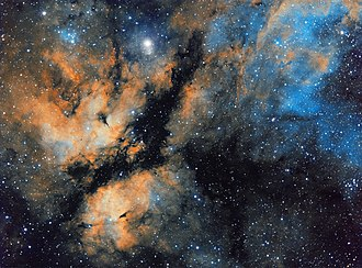 Sadr Region - Image: Butterfly Nebula in narrow band Sulfur, Hydrogen and Oxygen Stephan Hamel