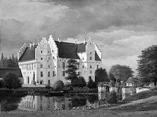 Hovedbygningen på Gisselfeld Kloster