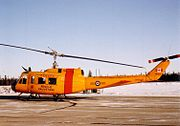 Canadian Forces Base Flight Cold Lake CH-118 Iroquois helicopter 118103 at CFB Cold Lake, January 1992