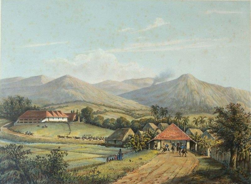 COLLECTIE TROPENMUSEUM De weg van Buitenzorg naar de Preanger Regentschappen TMnr 3728-429c