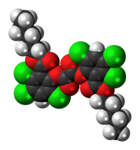 Space-filling model of the CPPO molecule