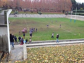 CR Cisneros - CR Cisneros(in blue) playing a match in 2014 at Central de la Ciudad Universitaria