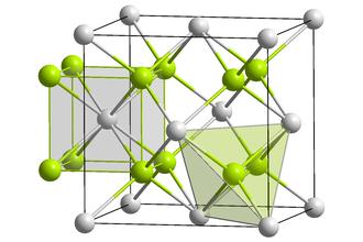 Magnesium silicide - Image: Ca F2 polyhedra