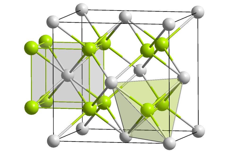 CaF2 polyhedra
