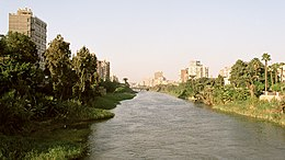 Cairo, channel between Roda Island and Old Cairo, Egypt, Oct 2004.jpg