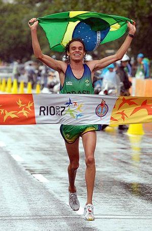 Franck de Almeida - De Almeida wins the marathon race of the 2007 Pan Am Games