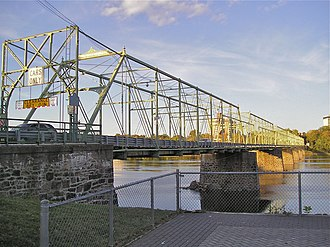 Calhoun Street Bridge - Bridge seen from Morrisville, Pennsylvania.