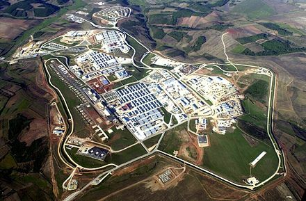 Aerial photo of Camp Bondsteel, the main base of the United States Army under KFOR command in Kosovo Camp bondsteel kosovo.jpg