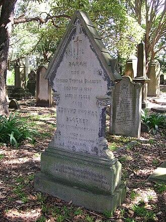 Balmain Cemetery - Headstone of Edmund Blacket, relocated to Camperdown Cemetery