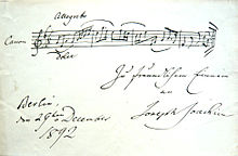 Canon in Allegretto, Joseph Joachim (1892) (Quelle: Wikimedia)