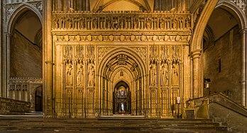 Le jubé de la cathédrale de Canterbury, dans le Kent. (définition réelle 9810×5306)