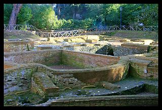 Capo di Bove ancient Roman thermal baths on the Appian Way outside Rome
