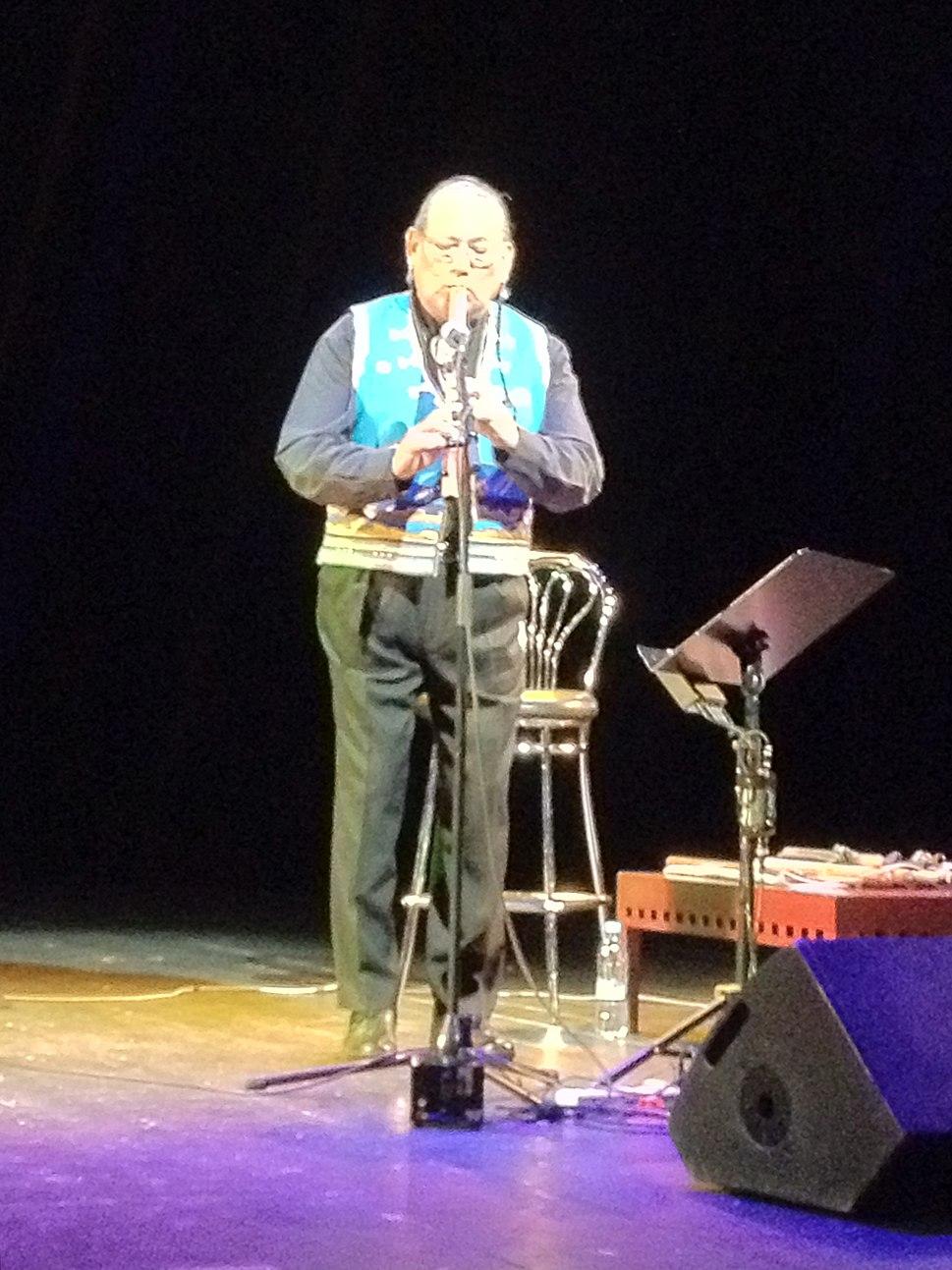 Carlos Nakai no concerto em Moscovo