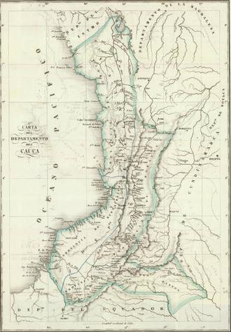 Cauca Department (Gran Colombia) - Image: Carta del Departamento de Cauca