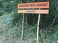"""Cartel San Ignacio - Comunidad Mbya Guaraní """"Chapai"""".jpg"""