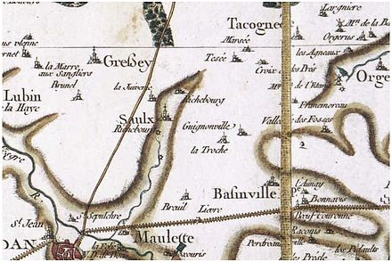 Carte Cassini de Richebourg