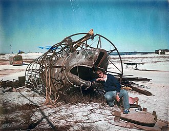 Navarre, Florida - A clean-up of old props from Jaws 2 on Navarre Beach.
