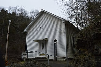 National Register of Historic Places listings in Russell County, Virginia - Image: Castle Run Community Church
