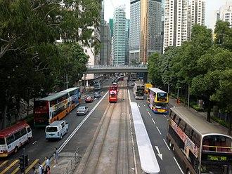 Causeway Road - Causeway Road looking toward Causeway Bay in 2011