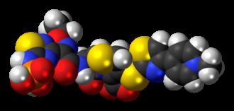 Ceftaroline fosamil - Image: Ceftaroline fosamil zwitterion 3D spacefill