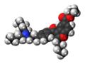 Celivarone molecule spacefill.png