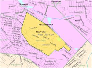 Pine Valley, New Jersey - Image: Census Bureau map of Pine Valley, New Jersey