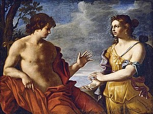 Giovanni Domenico Cerrini - Apollo and the Cumaean Sibyl (detail).