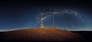 Cerro Armazones - Image: Cerro Armazones night time panorama