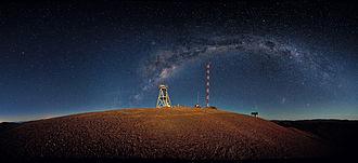 Extremely Large Telescope - Cerro Armazones at night (2010)