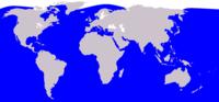 زیستگاه  نهنگ قاتل (به رنگ آبی)