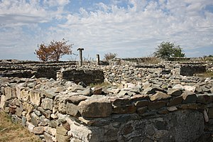 Dobruja - Ruins of the first Greek colony in the region, Istros