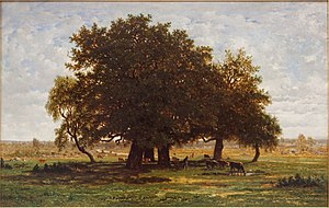 Broad-leaved tree - Image: Chênes Apremont by Rousseau Louvre RF1447 n 1