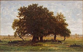Théodore Rousseau - Les chênes d'Apremont (Oak Grove, Apremont), 1850-52