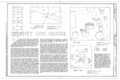 Chaney Log House, Highway 68, North side, Osage, Carroll County, AR HABS ARK,8-OSA.V,1- (sheet 1 of 7).png