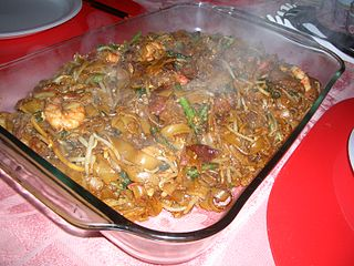 Char kway teow popular noodle dish in Indonesia, Malaysia, Singapore, Brunei and Thailand