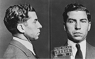 "Genovese crime family - ""Lucky"" Luciano's mugshot."