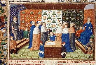 Truce of Leulinghem - Image: Charles VI and Richard II sign truce copy