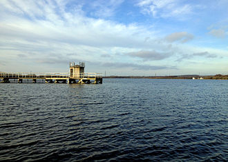 Chasewater - The reservoir in January 2013