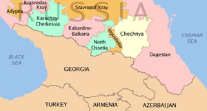 Insurgency in the North Caucasus - Map of the North Caucasus