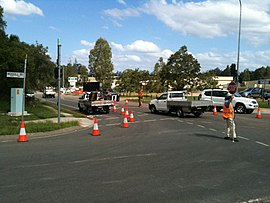 Check Point at the intersection of Moggill and Birkin Roads in Bellbowrie.jpg