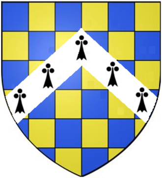 Earl of Warwick - Image: Checky Azure&Or A Chevron Ermine