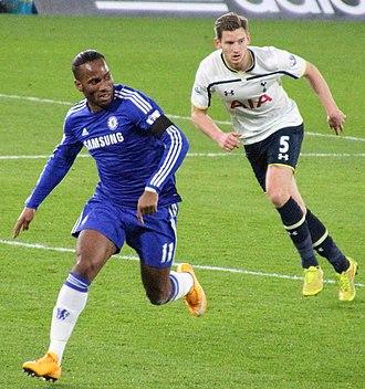 Jan Vertonghen - Vertonghen (right) playing for Tottenham Hotspur in 2014.