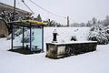 Cheppy sous la neige. L'arrêt de bus.JPG