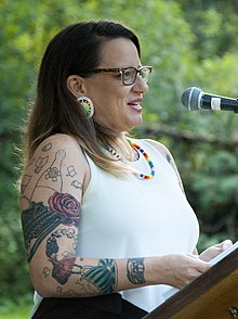 Cherie Dimaline at the Eden Mills Writers Festival in 2016