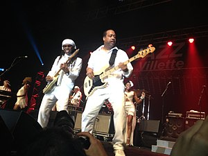 Chic (band) - Rodgers and Barnes onstage in 2013.