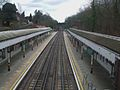Chigwell station high eastbound.JPG