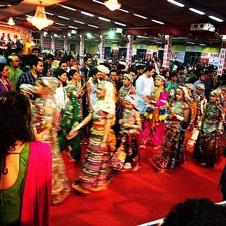 Dandiya Raas - Dandiya raas dance by children during Navratri in Bangalore