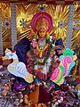 Chinalingala dussera 2018 Saraswathi devi Alankaram.jpg